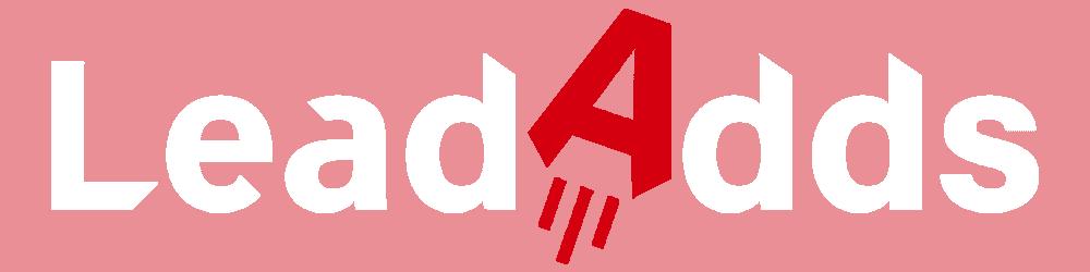 LeadAdds Logo White